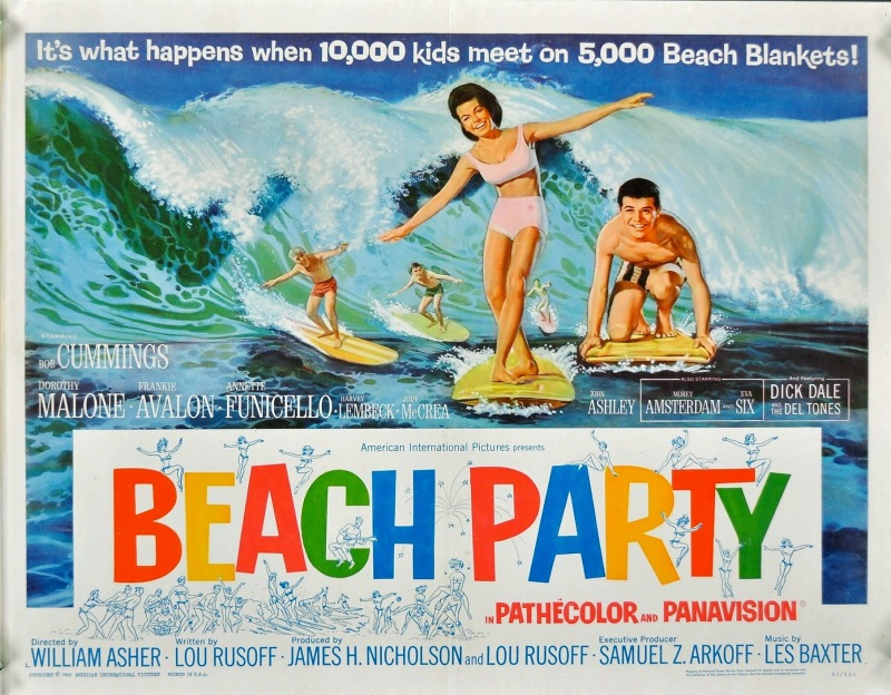 BEACH PARTY 1963 poster